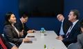 WTO 사무총장 만난 유명희 통상교섭본부장