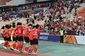 관중석 앞 찾은 U-23 축구대표팀