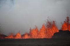 아이슬란드 빙하화산의 지옥불