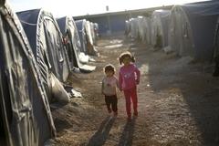 시리아 탈출한 쿠르드 아이들
