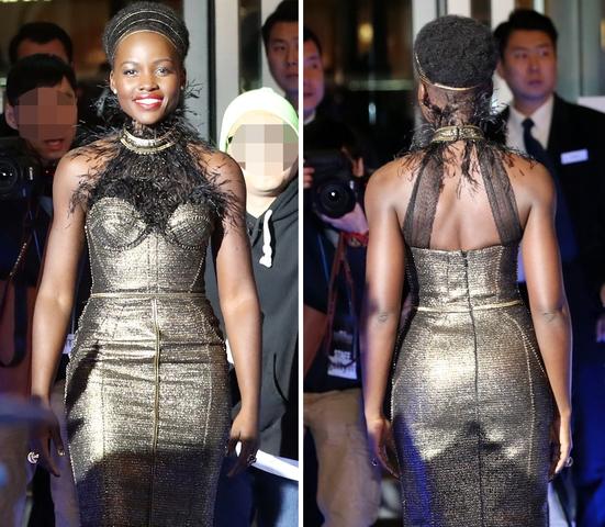 루피타 뇽, '눈부신 황금빛 드레스'