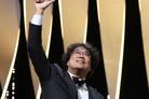 """[N칸현장] '황금종려상' 봉준호 """"'기생충'은 큰 모험""""·송강호 """"韓배우들에 영광 바쳐""""(소감)"""