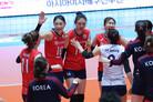 한국 女배구 태국 잡고 4강 진출…일본과 결승 티켓 다툼(종합)