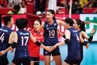 여자배구, '숙적' 일본에 역전승…월드컵 2패 뒤 첫 승