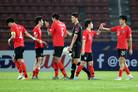 한국, 호주 꺾고 9회 연속 올림픽 진출…결승 상대는 사우디 (종합)