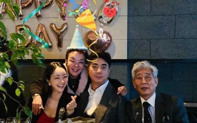 [N샷] 서효림, 시어머니 김수미 생일 축하…멋진 시아버지도 공개