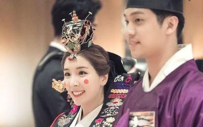 [N샷] 함연지, 훈남 남편과 3년전 결혼식 사진 공개…행복 미소