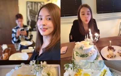 [N샷] 한혜진, ♥기성용·딸과 함께한 생일…화목한 일상