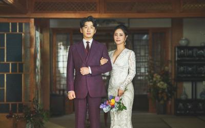 [N화보] '12월 결혼' 최송현♥이재한, 꿀 떨어지는 웨딩사진 공개