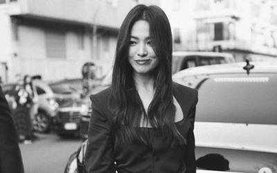 송혜교, 흑백사진도 빛나는 미모… '우아+시크' 분위기