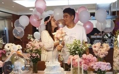 [N샷] '김수미 며느리' 서효림, 베이비샤워 파티 공개…행복한 예비맘