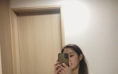 [N샷] '32㎏ 감량 유지 ' 박보람, 미모 돋보이는 거울 셀카