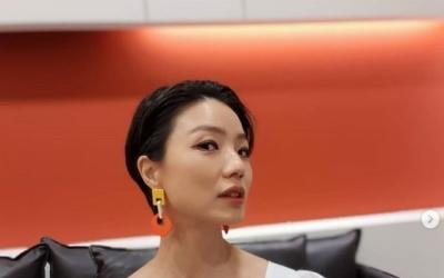 "[N샷] '섹시 의상' 안영미, 유쾌 해명 ""보기에 작아보이지만…옷 때문"""
