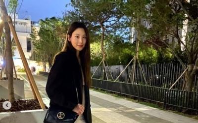 [N샷] '임신' 수현, 저녁 데이트 자랑…청초 미모+D라인 '눈길'