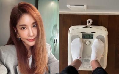 """[N샷] 김준희, 54㎏ 몸무게 인증 """"식단 안하는데 잘 버텨"""""""