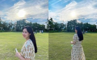 [N샷] '임신' 최희, 근황 사진 공개…건강한 예비맘