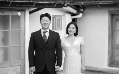"""""""행복했습니다"""" 김영희♥윤승열, 손꼭잡고 찍은 신혼여행 흑백사진"""