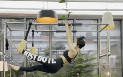 [N샷] 안영미, 활처럼 꺾은 수준급 필라테스 실력…건강미 몸매 '눈길'