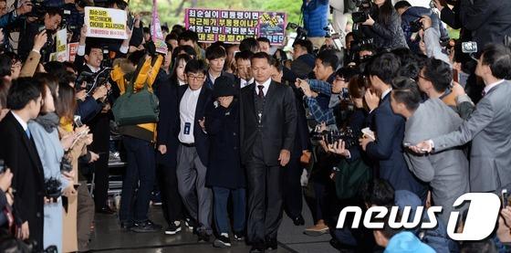 '국정농단 의혹' 최순실 검찰 출두