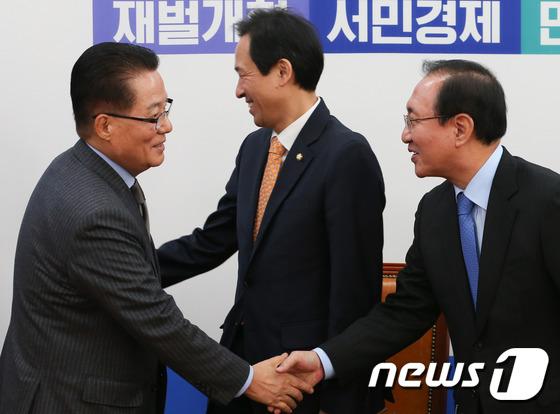 야3당 원내대표 회동 \'탄핵 동조\'