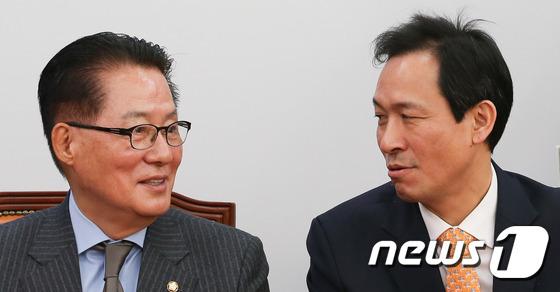 우상호-박지원 \'탄핵 거리감 좁힐까?\'