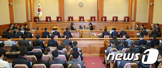 박근혜 대통령 탄핵심판 첫 변론기일 \\\'9분만에 종료\\\'