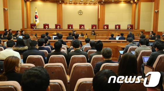 박근혜 대통령 탄핵심판 첫 공개변론