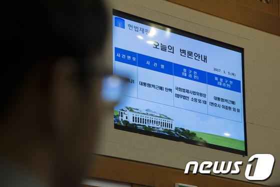 헌법재판소, 탄핵심판 2차 변론기일