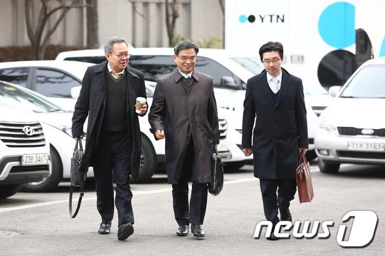2차 헌재 변론기일에 참석하는 朴대통령측 변호인단