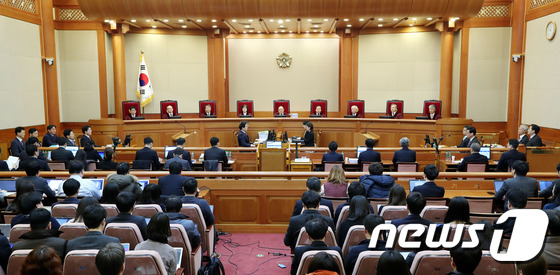 朴 대통령 탄핵심판 2차 공개변론 열린 헌법재판소