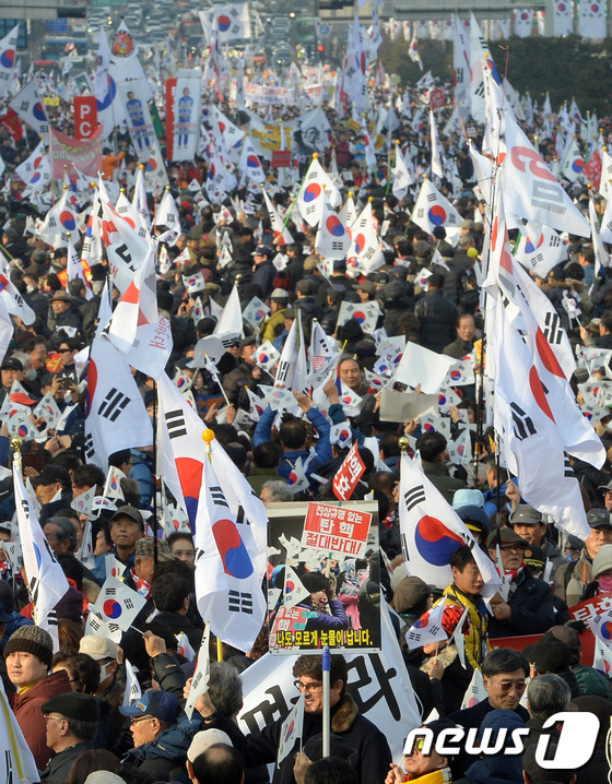 \\\'박근혜 대통령은 우리가 지킨다\\\'