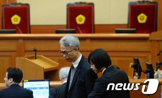 헌재 출석한 정현식 K스포츠재단 사무총장
