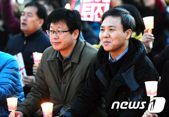 전북도민총궐기 참석한 안호영·김승수