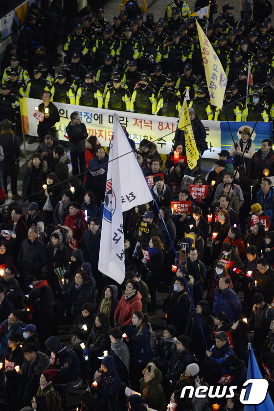 탄핵 촉구 19차 범국민행동의 날 행진