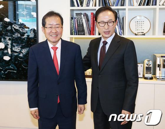 홍준표 대선 후보, MB 예방
