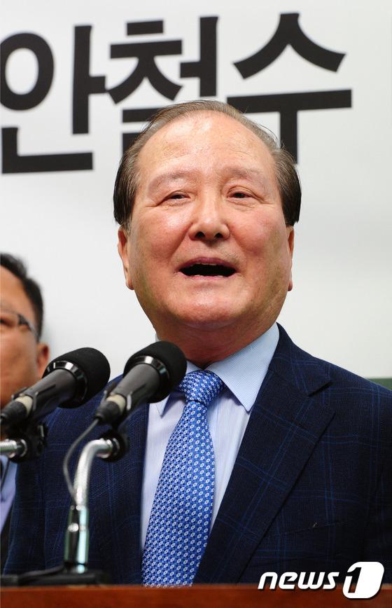강현욱 \'국민의당 안철수 지지합니다\'