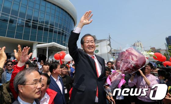 홍준표, 광주 찾아 지지호소