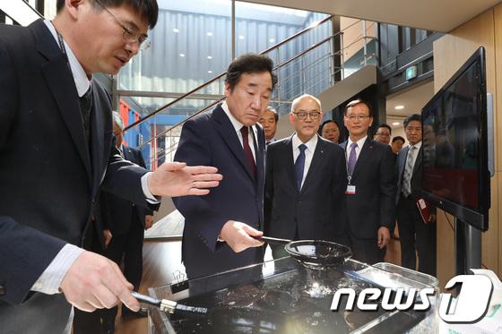 한국과학기술연구원 방문한 이낙연 총리