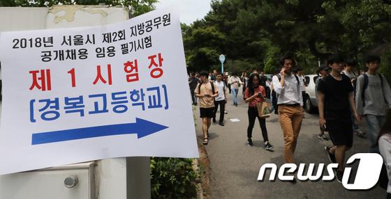 서울시 공무원 임용시험 평균경쟁률 63.2:1