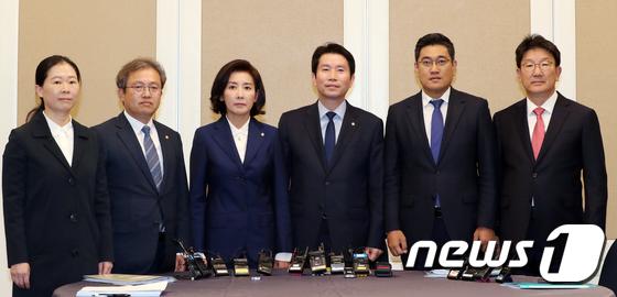 여야 교섭단체 대표자들, \'사법개혁\' 법안 논의