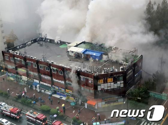 강남역 인근 진흥상가서 화재…진화작업 중