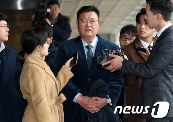 검찰 출석한 임동호 전 더불어민주당 최고위원