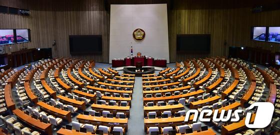 적막한 본회의장, 내년 예산안 법정시한 못 지킬 전망