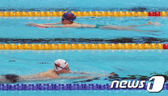광주 세계수영선수권대회...경영 종목 준비하는 선수들
