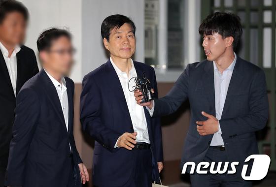 구속영장 기각된 김태한 대표 '묵묵부답'