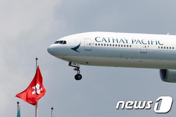 운항 재개된 홍콩국제공항