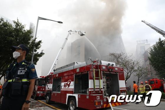 신당동 제일평화시장에서 화재 발생