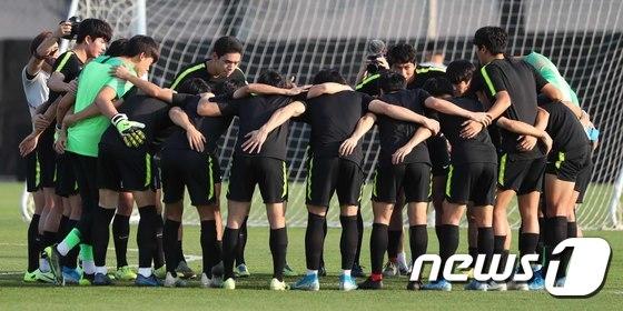 각오 다지는 U-23 대표팀