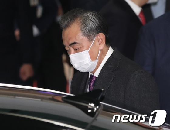 인천공항 통해 방한한 왕이 중국 외교부장