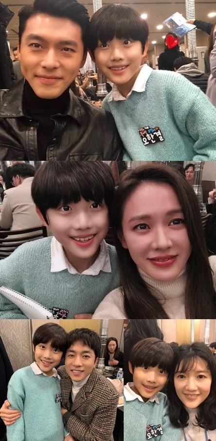 """오한결 '사랑의 불시착' 종방연 인증샷…현빈·손예진 등장 """"행복"""""""